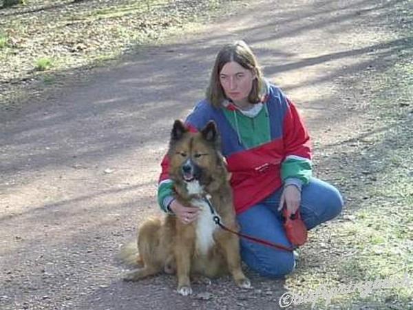 Geliebte Angie, ein paar Tage vor der Geburt des A-wurfes im Schillerhain